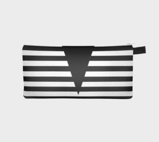 White Black Stripes Big Triangle pencil case preview