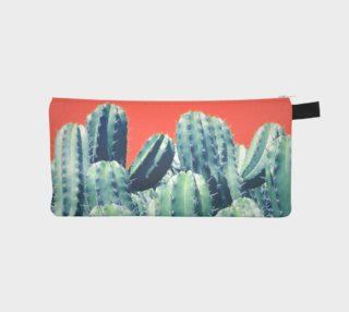 Aperçu de Cactus on coral Pencil case