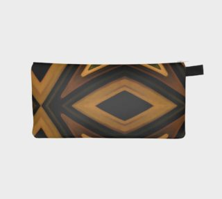 Tribal Diamonds Pattern Brown Colors Abstract Design Pencil Case preview