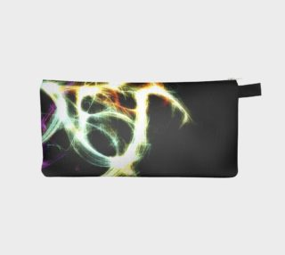 Futuristic Abstract Dance Shapes Artwork Pencil Case preview