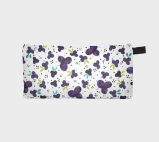 Aperçu de Purple blossoms with dots pencil case