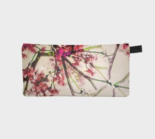 Pencil Case Red Deco Geometric Nature Collage Floral Motif preview