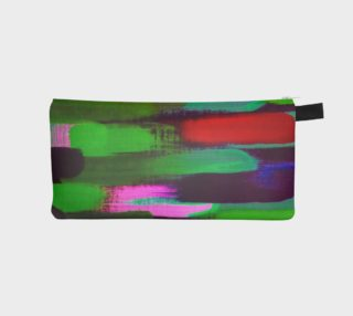 Brushstrokes in Green and Red Pencil Case preview