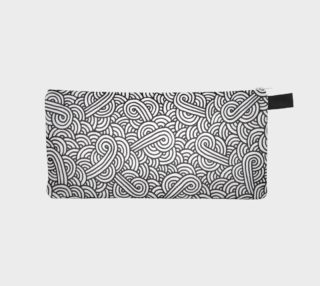 Black and white swirls doodles Pencil Case preview