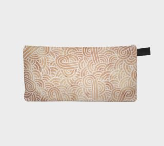 Iced coffee and white swirls doodles Pencil Case preview