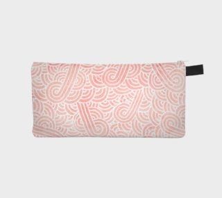 Rose quartz and white swirls doodles Pencil Case aperçu