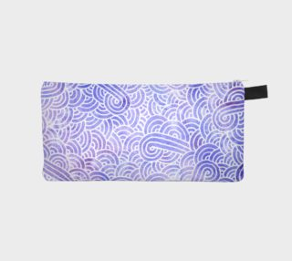Lavender and white swirls doodles Pencil Case preview