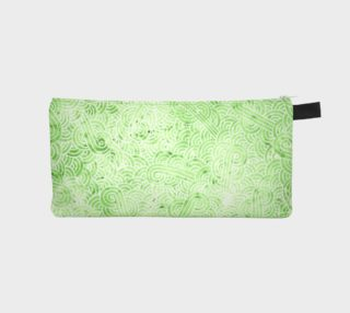 Greenery and white swirls doodles Pencil Case preview