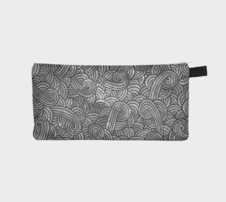 Grey and black swirls doodles Pencil Case preview