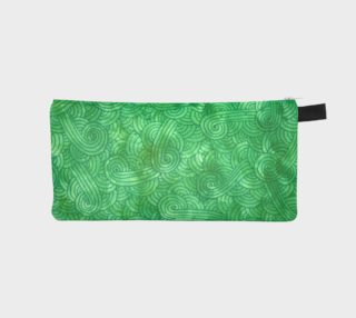 Green swirls doodles Pencil Case preview