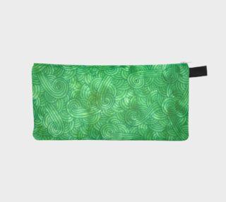 Green swirls doodles Pencil Case aperçu