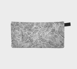 Grey and white swirls doodles Pencil Case preview