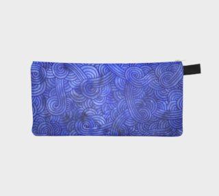 Royal blue swirls doodles Pencil Case aperçu