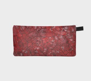 Red and black swirls doodles Pencil Case preview