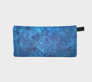 Turquoise blue swirls doodles Pencil Case preview
