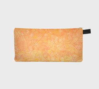 Yellow and orange swirls doodles Pencil Case preview