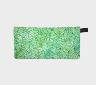 Green foliage Pencil Case aperçu