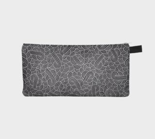 Faux silver and black swirls doodles Pencil Case preview