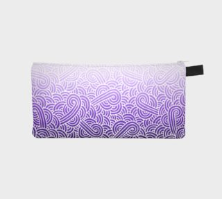 Ombre purple and white swirls doodles Pencil Case preview