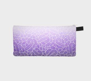 Ombre purple and white swirls doodles Pencil Case aperçu