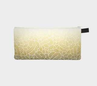Ombre yellow and white swirls doodles Pencil Case preview