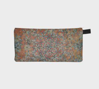 Flower of Life Watercolor Batik Clutch/Wallet preview