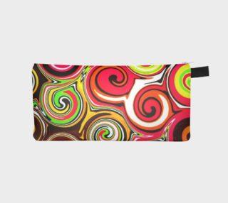 Swirl Me Pretty Colorful Cosmetics Case preview