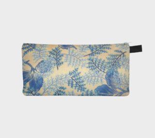 1950s Blue Ferns Pencil Case preview
