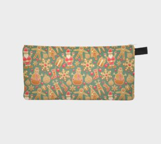 1950 Vintage Gingerbread Christmas Pencil Case preview