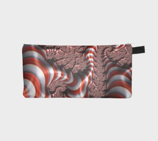 Candy Cane Fractal Pencil Case preview