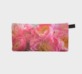 pink flower love pencil case preview
