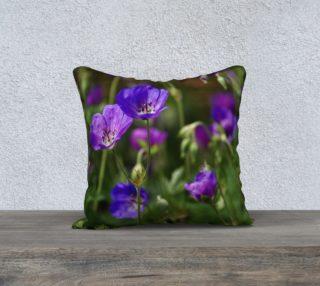 Purple Cranesbill 18x18 Pillow Case preview
