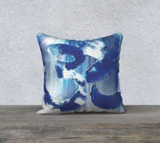 Om Blue Yoga Pillow preview