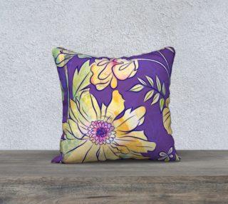 Francella Floret Watercolour Floral Pillow by Deloresart preview