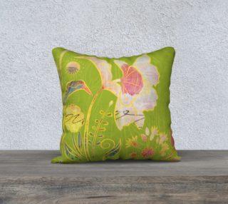 Subtle Soriya Watercolour Floral Pillow by Deloresart preview
