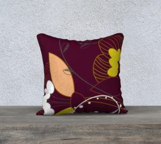Purple Abstract Lotus Flower Pillow Case 18x18 preview