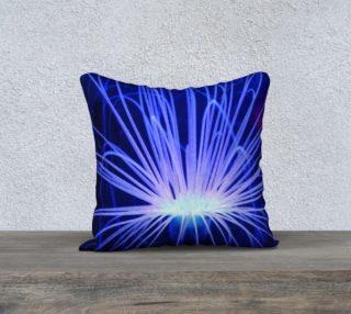 Purple Anemone Pillow Case 18x18 preview