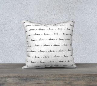 Aperçu de love pillow black