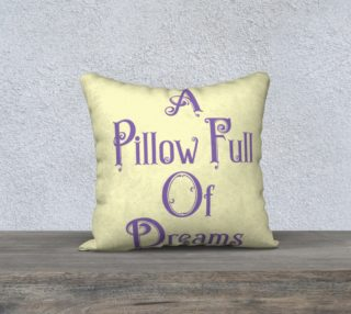 Pillow Full of Dreams-Violet on Cream preview