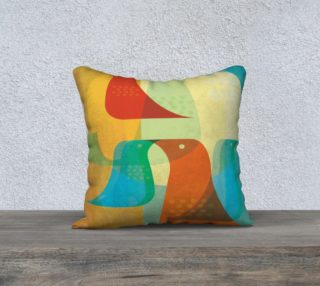 Birds of a Feather Pillow by Deloresart preview