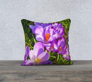 Purple Spring Crocus Pillow Case 18x18 preview