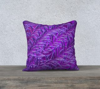 Purple Feathers 18 x 18 Pillow Case preview