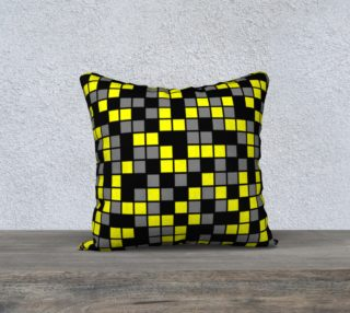 Aperçu de Yellow, Black, and Medium Grey Random Mosaic Squares