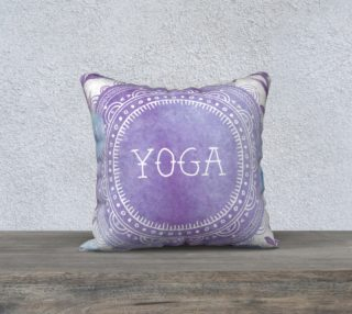 Aperçu de Purple Yoga Mandala Pillow