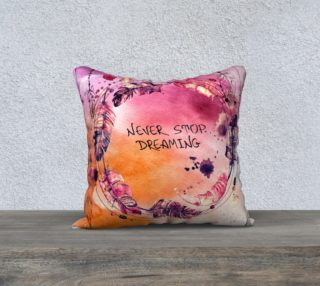 Aperçu de Never Stop Dreaming Boho Watercolor