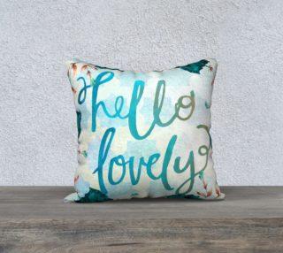 Aperçu de Hello Lovely Watercolor Pillow
