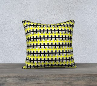 Aperçu de Black, Yellow, Grey, and White Southwest Blanket