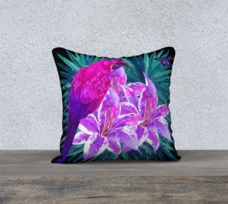 Tropical Parrot 18 x 18 Pillow case preview