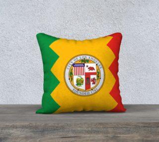 LA Flag Pillow Case 18 x 18 preview