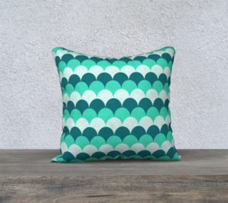 """Mermaid Scales Pillow Case - 18""""x18"""" preview"""